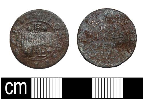 BH-1D3373: Post Medieval trade token