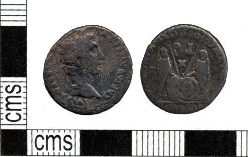 DOR-C61F33: Roman coin: Denarius of Augustus