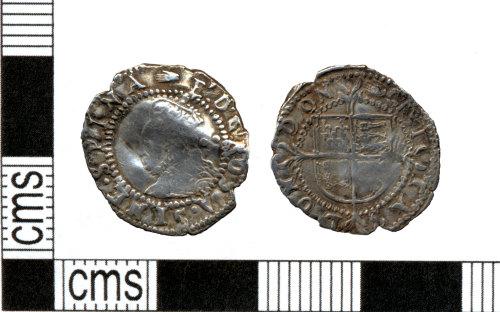 DOR-E88BE5: Medieval coin: A silver half groat of Elizabeth I