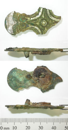 DENO-A99AB3: Early Medieval cruciform mount, fragment.
