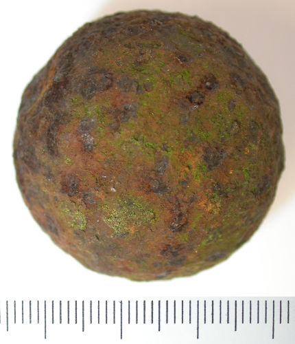 cannon ball personals I have what appears to be a bronze cannonball by all appearances was used multiple times due to the dings although it is still in great condition.