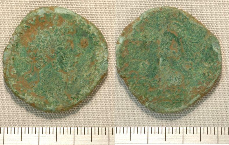 NMGW-0999B7: Roman coin: sestertius of Marcus Aurelius