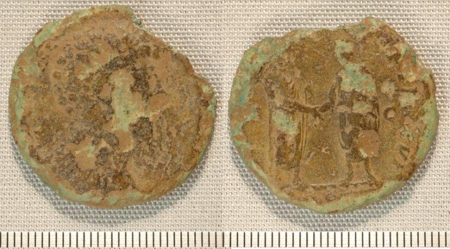 NMGW-0CF123: Roman coin: sestertius of Marcus Aurelius