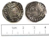 A resized image of Medieval coin: penny of John