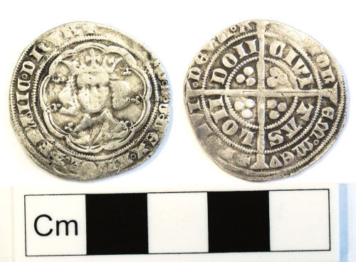 NCL-CC4A43: Medieval coin: groat of Edward III