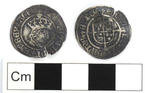 NCL-CDEB72: Medieval coin: halfgroat of Henry VII