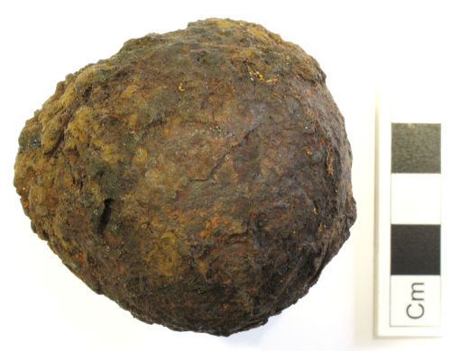 NCL-754A02: Post-Medieval cannon ball