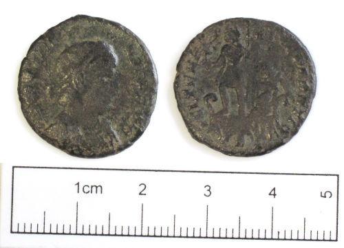 NCL-D41971: Roman coin: nummus of Constantius II