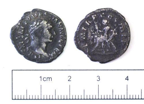 NCL-1A4D83: Roman coin: denarius of Trajan