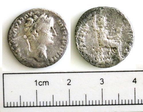 NCL-294EF5: NCL-294EF5: Roman coin: denarius of Tiberius