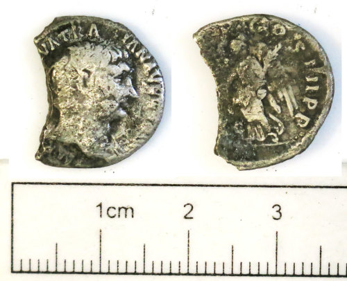 NCL-2B2B3C: NCL-2B2B3C: Roman coin: denarius of Trajan