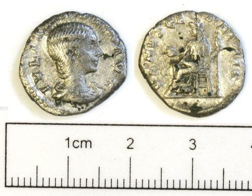 NCL-415576: NCL-415576: Roman coin: denarius of Julia Domna