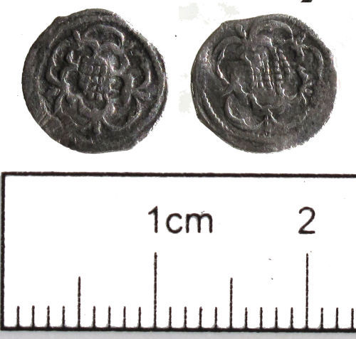 NCL-62B036: NCL-62B036: Post-Medieval coin: halfpenny of Charles I