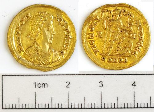 NCL-E42296: NCL-E42296: Roman coin: solidus of Honorius