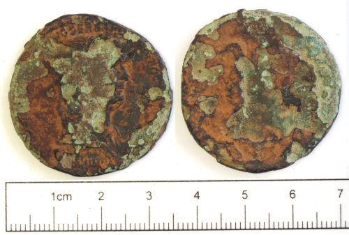 NCL-7978B4: Roman coin: sestertius of Trajan