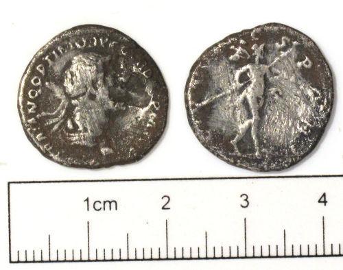 NCL-BAAFB7: Roman coin: denarius of Trajan
