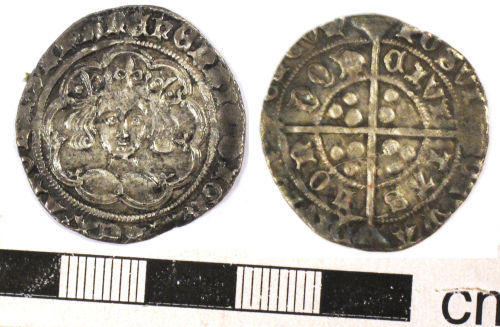 NCL-F33565: Medieval coin: groat of Henry IV