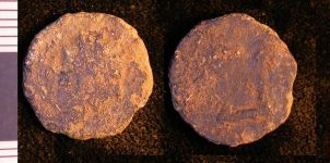 A resized image of Roman copper alloy radiate of an unknown ruler (260-296), reverse type CONSECRATIO