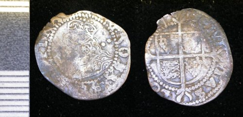 LEIC-0A5288: Post-medieval silver half groat of Elizabeth I (1558-1603), probably minted in London