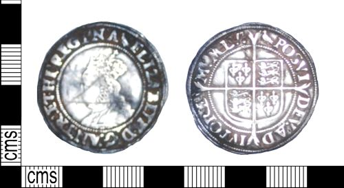 LANCUM-F98DE6: Post medieval coin: Silver Groat of Elizabeth I