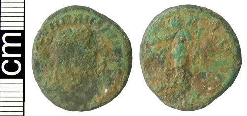 HAMP-8C4232: Roman coin: Radiate of Carausius
