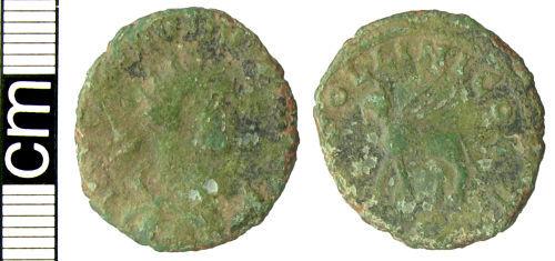 HAMP-9E4D01: Roman coin: Radiate of Carausius