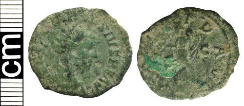 HAMP-A194D5: Roman coin: Radiate of Carausius