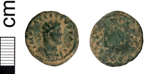 HAMP-AD9687: Roman coin: Radiate of Allectus