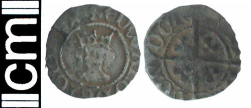 HAMP-EE53D6: Medieval coin: Halfpenny of Edward IV (second reign)