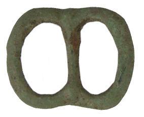 WILT-0496D1: MEdieval double loop buckle