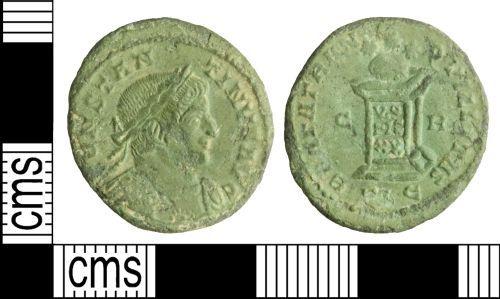 WILT-06B158: Roman coin: Nummus of Constantine