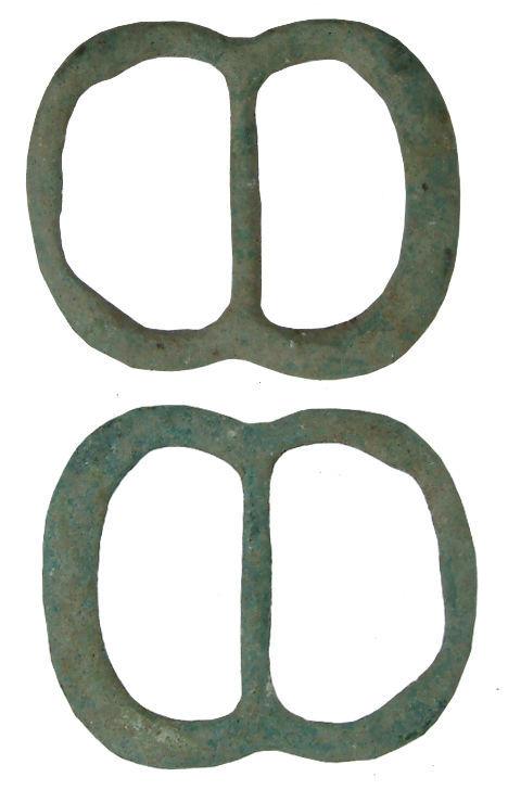 WILT-0814B7: Post-medieval double loop buckle