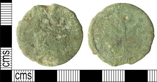 WILT-094BF5: Roman coin: Nummus of Magnentius