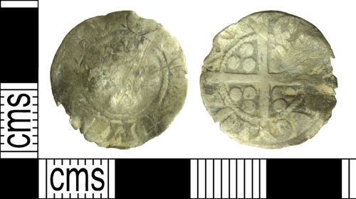 WILT-0C8871: Medieval coin: continental imitation Sterling of Gaucher of Châtillon