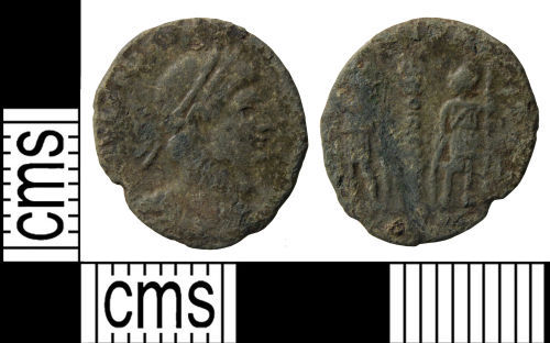 WILT-58D6D6: Roman coin: Nummus of a Caesar of the House of Constantine