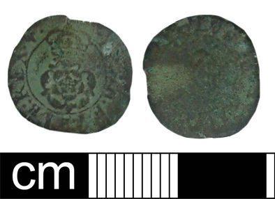 WILT-67FA88: Post-medieval coin: Rose farthing of Charles I