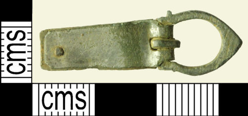 WILT-721268: Medieval buckle with plate