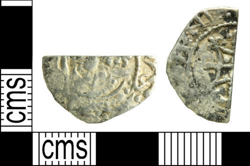 WILT-7BEEF2: Medieval coin: Cut halfpenny of Henry I