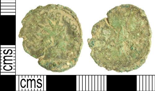 WILT-8DE013: Roman coin: radiate of Victorinus