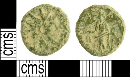 WILT-8E7AF7: Roman coin: Radiate of Tetricus I