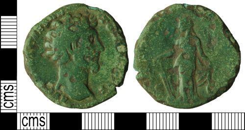 WILT-907053: Roman coin: Sestertius of Marcus Aurelius