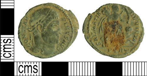 WILT-90F543: Roman coin: Nummus of Constantine I
