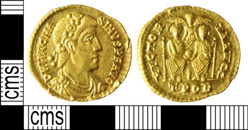 WILT-B5E616: Roman coin: Solidus of Magnus Maximus