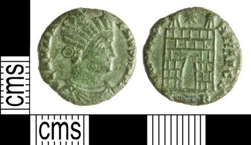 WILT-C884DA: Roman coin: Nummus of Fausta