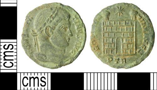 WILT-E3B2E0: Roman coin: Nummus of Constantine I