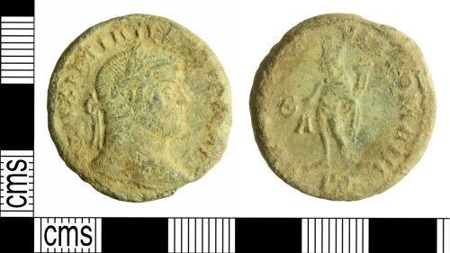 WILT-E8E243: Roman coin: nummus of Galerius