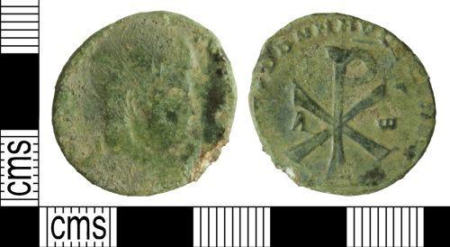 WILT-FC4EA3: Roman coin: Nummus of Magnentius