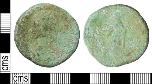 WILT-008E22: Roman coin: Sestertius of Lucilla