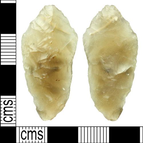 WILT-092608: Neolithic flint arrowhead
