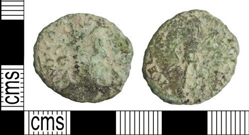 WILT-0D0206: Roman coin: Radiate of Carausius